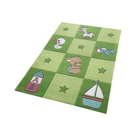 tapis enfant vert newborn smart kids tufté main