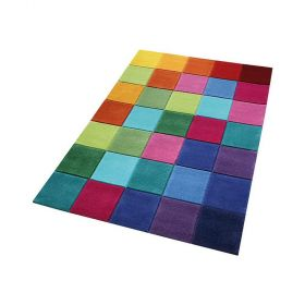tapis smart kids enfant smart square multicolore tufté main