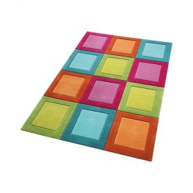 tapis smart kids enfant smart button multicolore tufté main
