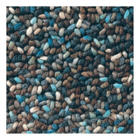 tapis bleu pure laine vierge stone brink & campman