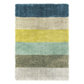 Tapis shaggy poils longs ray s - Tapis shaggy multicolore ...