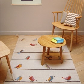 tapis pour enfant art for kids birds