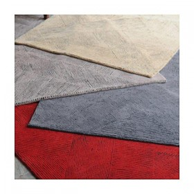 tapis en laine taupe tufté main balta the rug republic