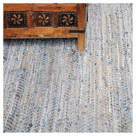 tapis tissé main bengal bleu the rug republic