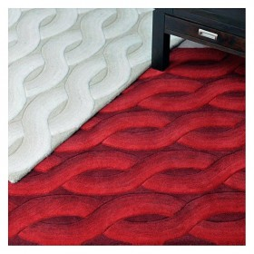 tapis rouge the rug republic tufté main cable