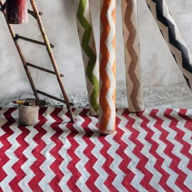tapis tissé main the rug republic chevron rouge