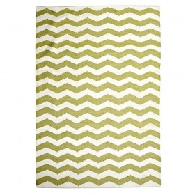 tapis tissé main chevron vert the rug republic