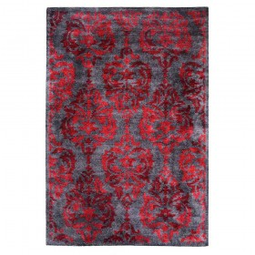 tapis tufté main damask rouge the rug republic
