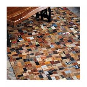 tapis fait mainthe rug republic marlboro brun