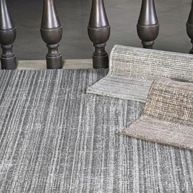 tapis tissé main medanos gris the rug republic