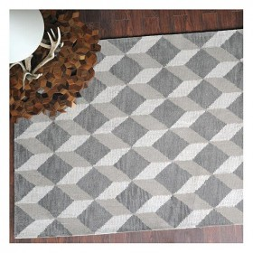 tapis tufté main reflections beige et taupe the rug republic