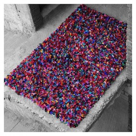 tapis en coton multicolore the rug republic rockon shaggy tissé main