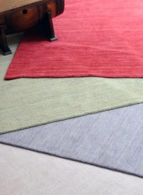 tapis tissé main roma vert the rug republic