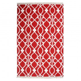 tapis kilim fait main zanet rouge the rug republic