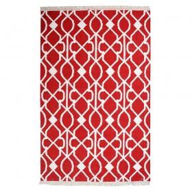 tapis kilim fait main zanet rouge the rug republic