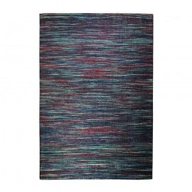 tapis tissé main shiro bleu et rouge the rug republic