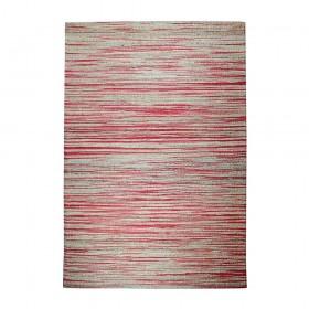 tapis tissé main shiro beige et rouge the rug republic