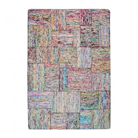 tapis en soie multicolore clair the rug republic silk lane
