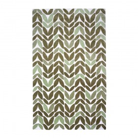 tapis fait main springleaf vert the rug republic