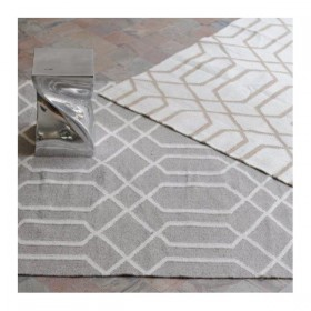 tapis kilim fait main tarim gris the rug republic