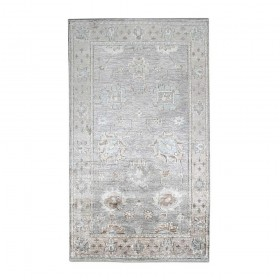 tapis noué main tashi gris the rug republic