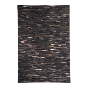 tapis fait main tiago marron foncé the rug republic