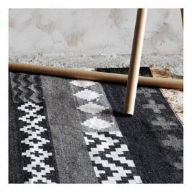 tapis kilim fait main tribe naturel the rug republic