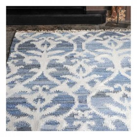 tapis kilim fait main vivian bleu the rug republic