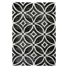tapis en laine tufté main waiko noir the rug republic