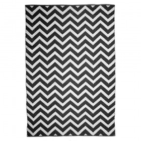 tapis motif chevron noir et blanc zen the rug republic