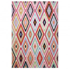 tapis rose fresh kilim esprit home