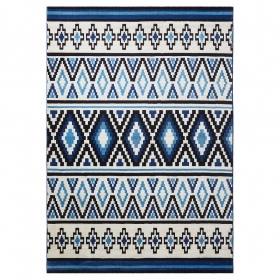tapis esprit home happy kelim bleu