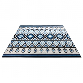 tapis happy kelim bleu esprit home
