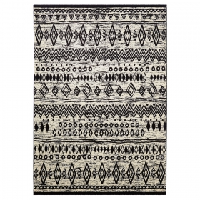 tapis noir et blanc contemporary kelim esprit home