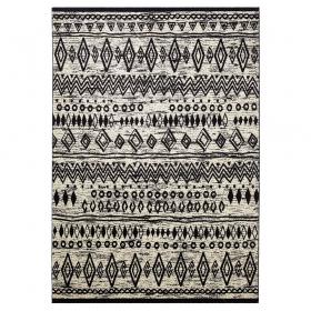 tapis contemporary kelim noir et blanc esprit home