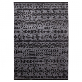 tapis contemporary kelim esprit home gris anthracite