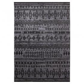 tapis contemporary kelim esprit home gris anthracite