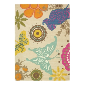 tapis xian butterfly beige brink & campman tufté main