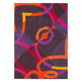 tapis xian control violet brink & campman tufté main