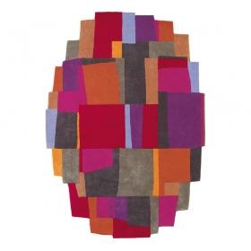 tapis design xian elements fuchsia brink & campman