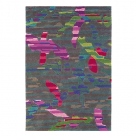 tapis xian jungle multicolore brink & campman tufté main