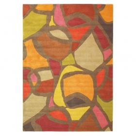 tapis xian mosaic orange brink & campman tufté main