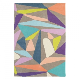 tapis xian triangle gris multicolore brink & campman