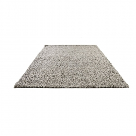 tapis en laine stone gris écru home spirit