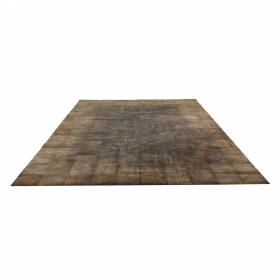 tapis walker en cuir gris home spirit