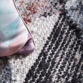 tapis gris home spirit empreinte