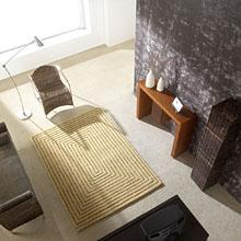 tapis en laine beige carving tridimensional