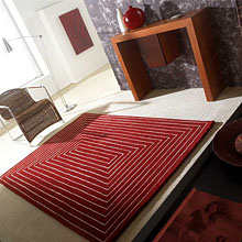 tapis tridimensional rouge carving