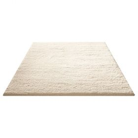 tapis moderne cuddly blanc down to earth