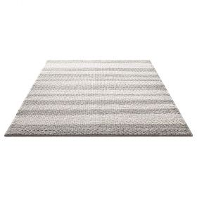 tapis down to earth moderne breeze gris taupe et blanc